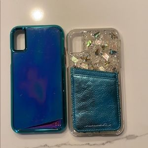 2x case-mate cell cases iPhone X